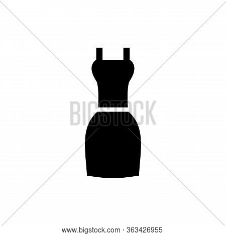 Simple Icon Of Dress. Sundress, Little Black Dress, Style. Clothes Concept. Can Be Used For Topics L