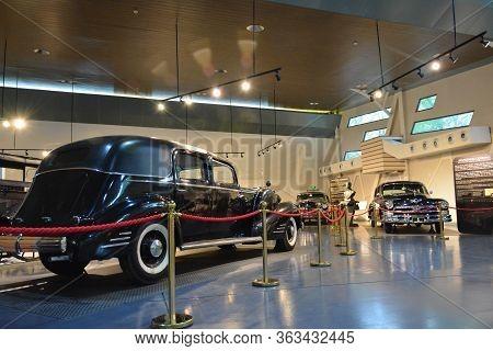 Quezon City, Ph - Apr. 28: Presidential Car Museum (museo Ng Pampangulong Sasakyan) Interior On Apri