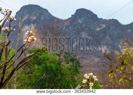Beautiful View Of Mountain At Khao I Bid Or Khao E Go At Khao Yoi District, Phetchaburi Province, Th
