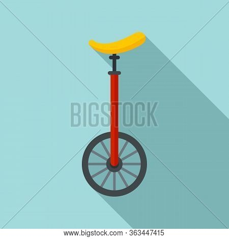 Unicycle Circus Icon. Flat Illustration Of Unicycle Circus Vector Icon For Web Design