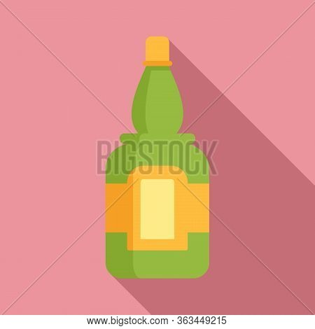 Bottle Of Tequila Icon. Flat Illustration Of Bottle Of Tequila Vector Icon For Web Design