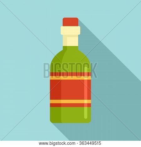 Tequila Drink Bottle Icon. Flat Illustration Of Tequila Drink Bottle Vector Icon For Web Design
