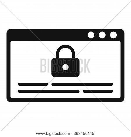 Web Lock Authentication Icon. Simple Illustration Of Web Lock Authentication Vector Icon For Web Des