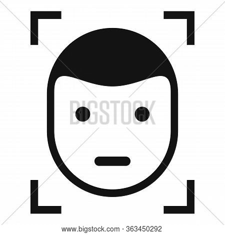 Face Detection Icon. Simple Illustration Of Face Detection Vector Icon For Web Design Isolated On Wh
