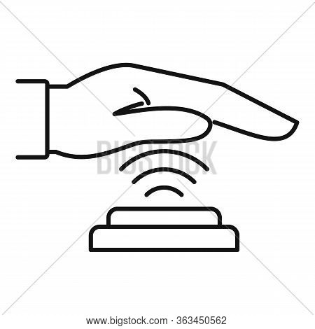 Palm Scan Authentication Icon. Outline Palm Scan Authentication Vector Icon For Web Design Isolated