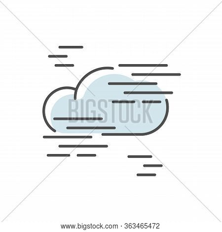 Fog Blue Rgb Color Icon. Foggy Weather, Meteorological Forecast. Atmosphere Humidity. Natural Phenom