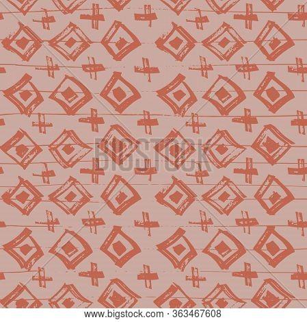 Tie Dye Japanese Geometric Simple Seamless Pattern. Boho Tie Dye Asian Batik. Geo Wabi Sabi Bohemian