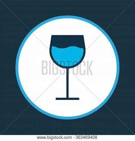 Wineglass Icon Colored Symbol. Premium Quality Isolated Cabernet Element In Trendy Style.