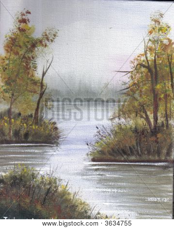 Painting Calm Lake