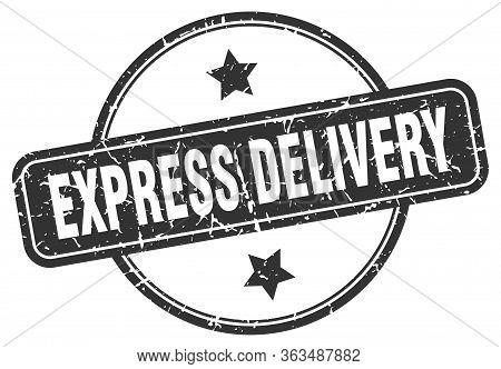 Express Delivery Stamp. Express Delivery Round Vintage Grunge Sign. Express Delivery