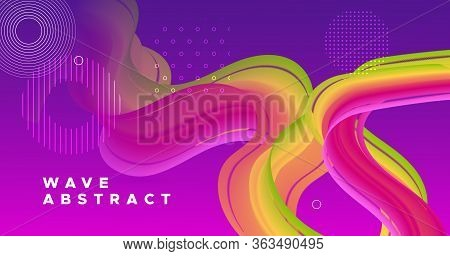 Vibrant Design. 3d Graphic Motion. Gradient Wallpaper. Vector Digital Vibrant Design. Futuristic Flo