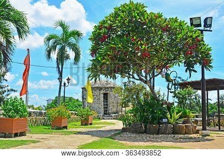 Cebu, Ph - June 17 - Fort San Pedro Bastion San Miguel Saint On June 17, 2017 In Cebu, Philippines.