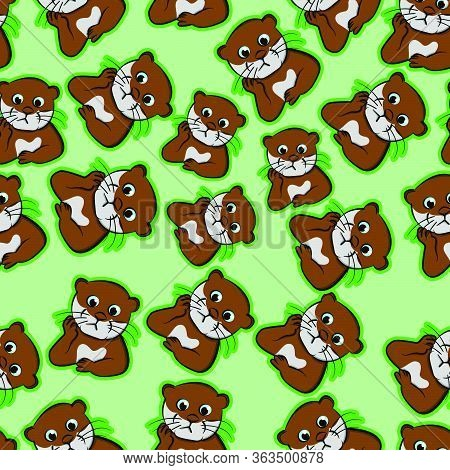 Expression Beaver Confused, Puzzled Pet, Perplexed, Nervous Cartoon, Restless, Uneasy Funny Animals