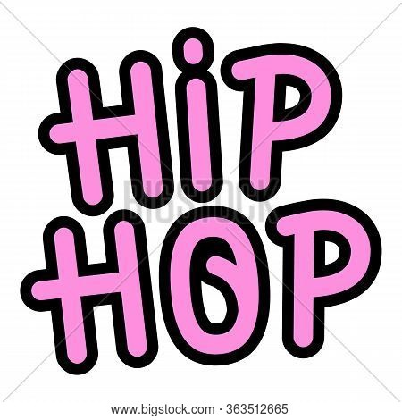 Hiphop Wall Paint Icon. Outline Hiphop Wall Paint Vector Icon For Web Design Isolated On White Backg