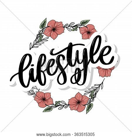 Vector Background Lifestyle Healthy Food Poster Or Banner With Hand Drawn Fruits And Lettering Text