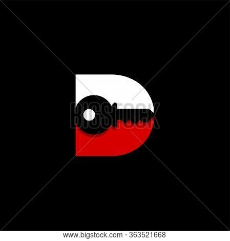 Initial Letter D Key Logo Concept, Key With Letter D, Vector Logo Design Template