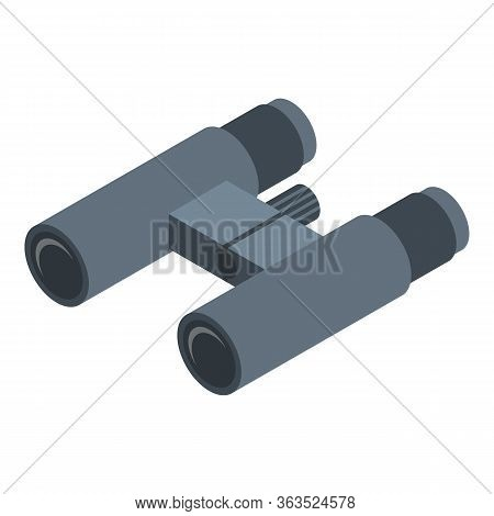 Binoculars Icon. Isometric Of Binoculars Vector Icon For Web Design Isolated On White Background