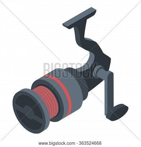 Fishing Tool Reel Icon. Isometric Of Fishing Tool Reel Vector Icon For Web Design Isolated On White
