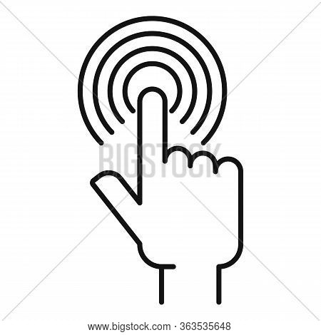Touch Sense Authentication Icon. Outline Touch Sense Authentication Vector Icon For Web Design Isola