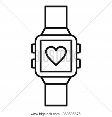 Smartwatch Icon. Outline Smartwatch Vector Icon For Web Design Isolated On White Background