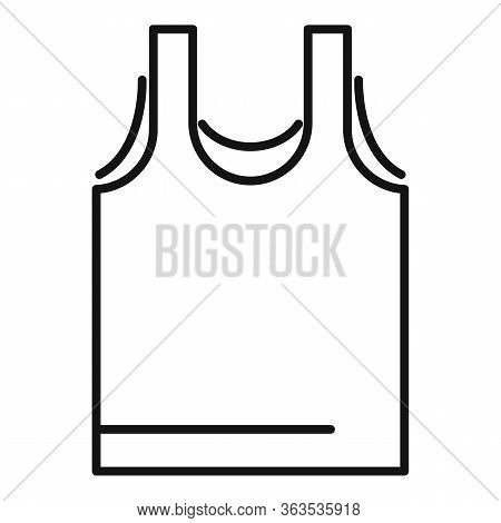 Sport Vest Icon. Outline Sport Vest Vector Icon For Web Design Isolated On White Background