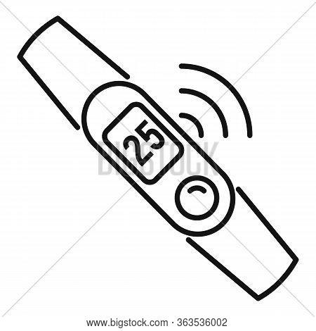 Fitness Bracelet Icon. Outline Fitness Bracelet Vector Icon For Web Design Isolated On White Backgro
