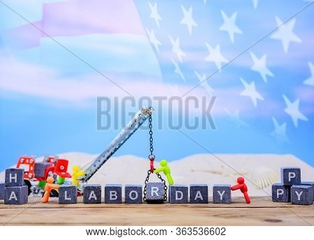 Happy Labor Day Concept. Public Holiday In America And Usa.