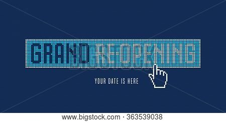 Grand Opening And Re-opening Vector Illustration, Background