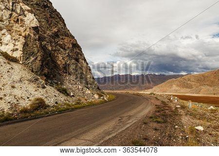 A365 Highway, Mountain Road Along The Chu River, Kyrgyzstan, Kochkor District