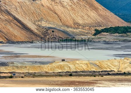Tailings And Mine Dumps In Bor, Eastern Serbia, One Of The Largest Copper Mines In Europe