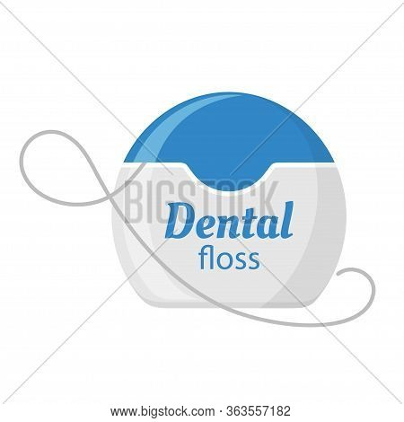 Dental Floss Icon, Medical And Dentistry Healthcare