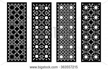 Laser Cut Decorative Vector Panel Set. Privacy Fence, Jali Design, Cnc Decor, Interior Design Elemen