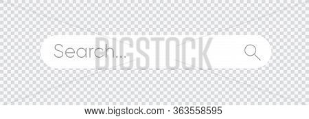 Search Bar, Search Boxes On Transparent Background - Stock Vector. Eps 10
