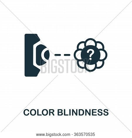 Color Blindness Icon. Simple Illustration From Ophthalmology Collection. Creative Color Blindness Ic