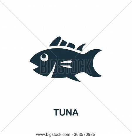 Tuna Icon. Simple Illustration From Seafood Collection. Creative Tuna Icon For Web Design, Templates