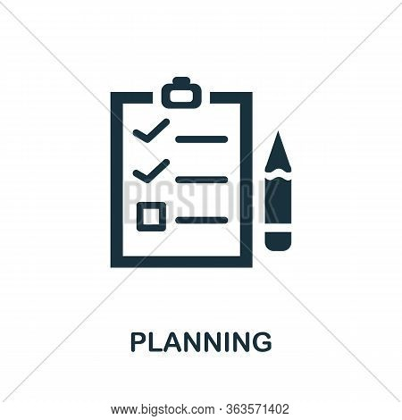 Planning Icon. Simple Illustration From Startup Collection. Creative Planning Icon For Web Design, T