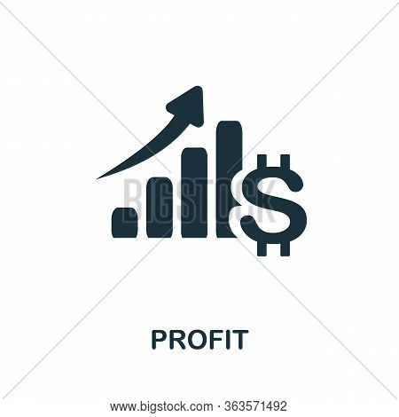 Profit Icon. Simple Illustration From Startup Collection. Creative Profit Icon For Web Design, Templ