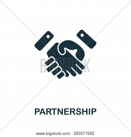 Partnership Icon. Simple Illustration From Startup Collection. Creative Partnership Icon For Web Des