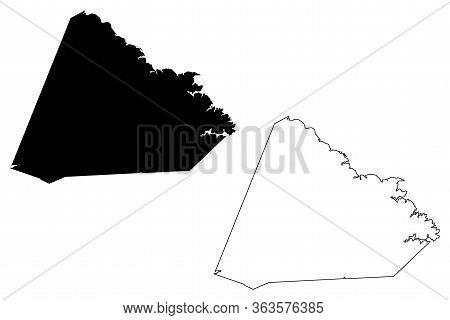 Stephens County, Georgia (u.s. County, United States Of America,usa, U.s., Us) Map Vector Illustrati