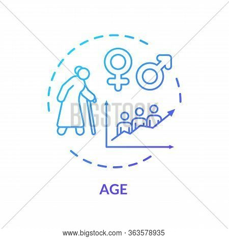 Age Concept Icon. Cardiovascular System Diseases, Cvd Risk For Senior Adults, Aging Idea Thin Line I