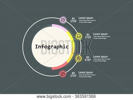 The Infographic Vector Design Template For Illustration. Infographic Design Business Template With F
