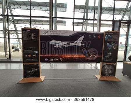 Stuttgart, Germany - September 22, 2019: Information Board Of Sofia, The Stratosphere Observatory Fo