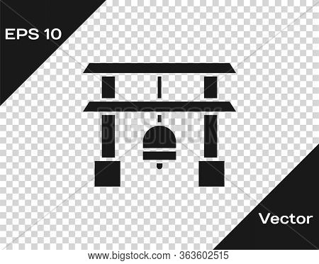 Black Japan Gate Icon Isolated On Transparent Background. Torii Gate Sign. Japanese Traditional Clas