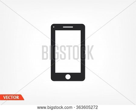 Smartphone Icon In Trendy Flat Style. Mobile Phone Icon. Phone Symbol For Your Website Design, Smart