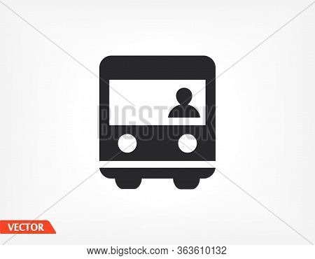 Bus Icon. Vector Eps 10. Bus Tour. Bus Business Flat Design Transportation