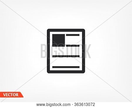 News Outline Icon Isolated On Background. News Symbol For Website Design, News Mobile App, Logo, Use