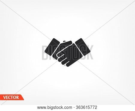 Business Handshake. Contract People Agreement Flat Vector Icon For Apps And Websites. Two Hands. Vec