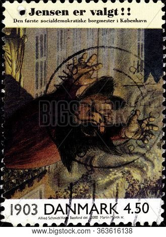 02.09.2020 Divnoe Stavropol Krai Russia The Postage Stamp Denmark 2000 Danish History 20th Century C
