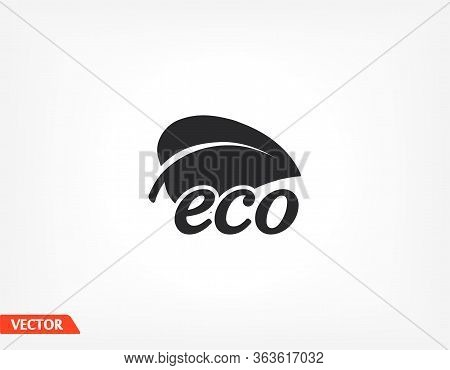 Ecology Icon. Vector Eps 10. Leaflet. Ecology. Purity. Future Is Displayed. Flat Style. Ecology