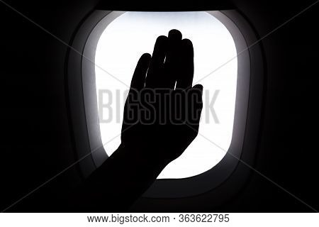 Coronavirus Transportation. Traveling Concept. Travel By Plane. Tourist At Aircraft Cabin. Memoirs,